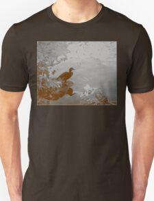 Duck Pond - Sepia Unisex T-Shirt
