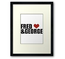 Fred and George Love  Framed Print