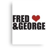 Fred and George Love  Canvas Print