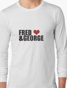 Fred and George Love  Long Sleeve T-Shirt
