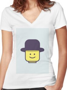 Mr Legoman Women's Fitted V-Neck T-Shirt