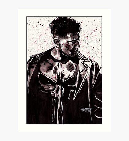 Punisher Ink Splatter Art Print