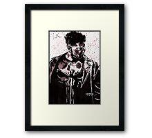 Punisher Ink Splatter Framed Print