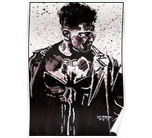 Punisher Ink Splatter Poster