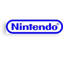 Blue Nintendo Logo Canvas Print