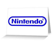 Blue Nintendo Logo Greeting Card