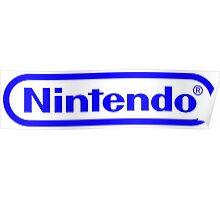 Blue Nintendo Logo Poster