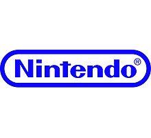 Blue Nintendo Logo Photographic Print