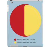 Babybel Pie Chart iPad Case/Skin