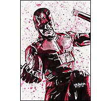 Daredevil Ink Splatter Photographic Print