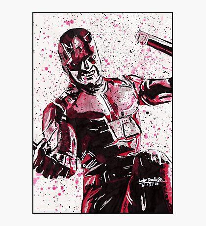 Daredevil Ink Splatter Photographic Print