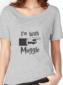 I'm with Muggle Women's Relaxed Fit T-Shirt