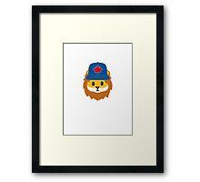 Blue Jays No Fear Lion Emoji Framed Print