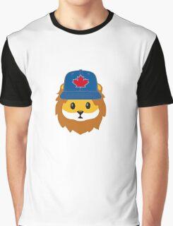 Blue Jays No Fear Lion Emoji Graphic T-Shirt