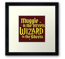 Muggle In The Street Quotes Framed Print
