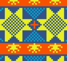 Ethnic design pattern. Russian traditional motive.  Sticker