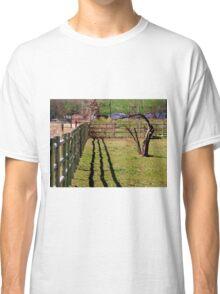 Fence, Shadow's, Tree. Classic T-Shirt