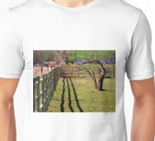 Fence, Shadow's, Tree. Unisex T-Shirt