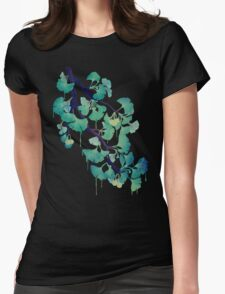 O Ginkgo (in Green) Womens Fitted T-Shirt