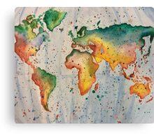 Rainbow map Canvas Print