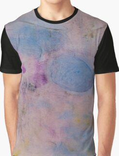 Colorful abstract Ink design blue red yellow Textile print Graphic T-Shirt