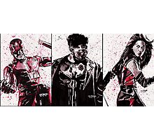 Daredevil Ink Splatter Collection Photographic Print