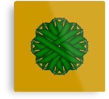 Emerald Green Flower Ribbon Metal Print