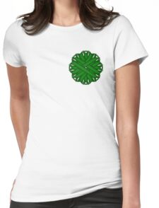 Emerald Green Flower Ribbon Womens Fitted T-Shirt