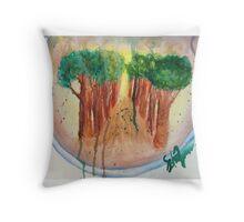 Broccoli tree Throw Pillow