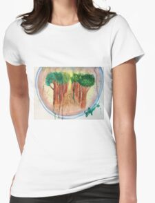 Broccoli tree Womens Fitted T-Shirt
