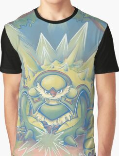 Spikey Shield_painted Graphic T-Shirt