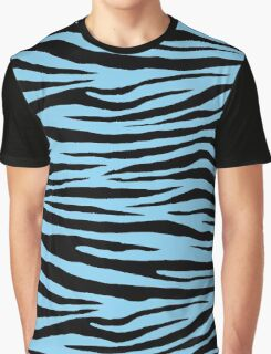 0029 Baby Blue Tiger Graphic T-Shirt