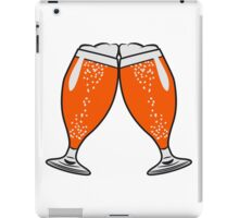 toast drink beer glass of beer iPad Case/Skin