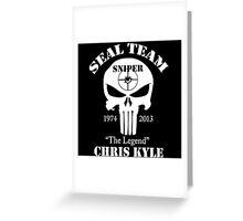 The legend chris kyle,seal team sniper Greeting Card