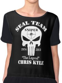 The legend chris kyle,seal team sniper Chiffon Top