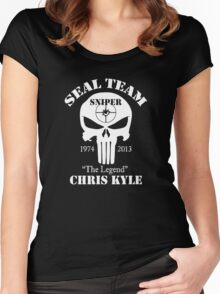 The legend chris kyle,seal team sniper Women's Fitted Scoop T-Shirt