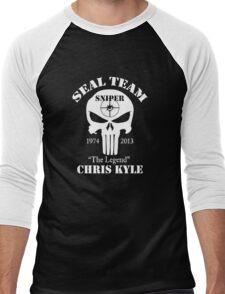 The legend chris kyle,seal team sniper Men's Baseball ¾ T-Shirt