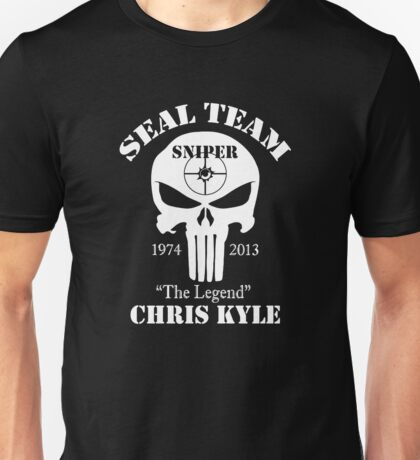 The legend chris kyle,seal team sniper Unisex T-Shirt