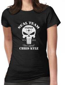 The legend chris kyle,seal team sniper Womens Fitted T-Shirt