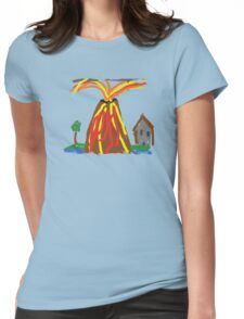 Volcano & House by Xander Womens Fitted T-Shirt