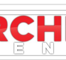 The Archer Agency Red/White Logo Sticker