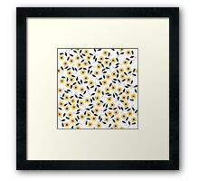 Pattern with chamomile flowers Framed Print