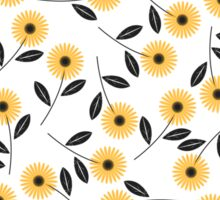 Pattern with chamomile flowers Sticker