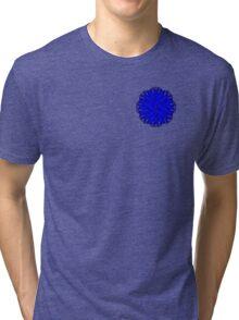 Blue Flower Ribbon Tri-blend T-Shirt