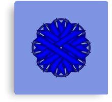 Blue Flower Ribbon Canvas Print