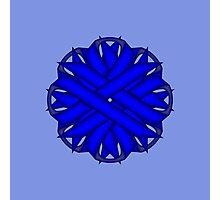 Blue Flower Ribbon Photographic Print