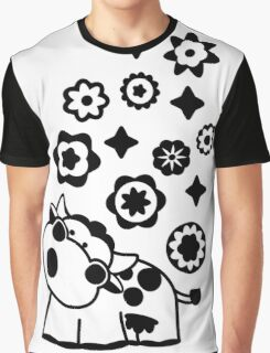 Black & White Cow Graphic T-Shirt