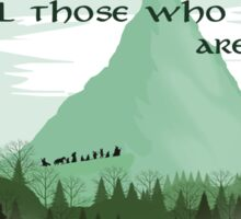 Firewatch Lord of the Rings Tokien Quote Green Sticker