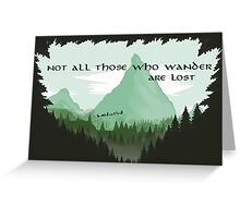 Firewatch Lord of the Rings Tokien Quote Green Greeting Card
