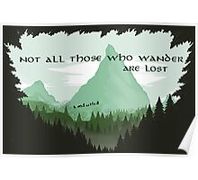 Firewatch Lord of the Rings Tokien Quote Green Poster